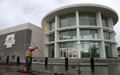 Workers lay concrete at the new San Ramon City Hall building in San Ramon, Calif., on Thursday, Jan. 28, 2016. The $14.9 million, 44,600-square-foot building is located at Bollinger Canyon Road and Market Place, and is set to open in April. (Anda Chu/Bay Area News Group)
