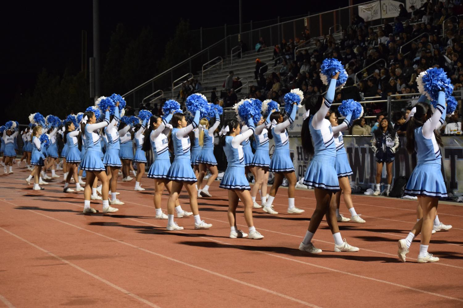 Cheer peforms half time show at Livermore game