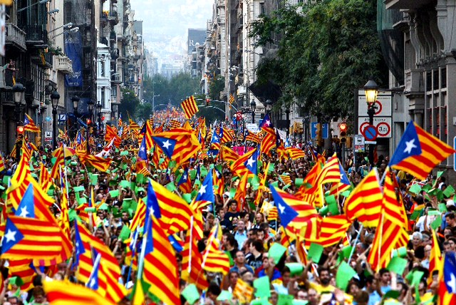 A photo from Diada de Catalunya in 2012 shows passions have not cooled in recent years.