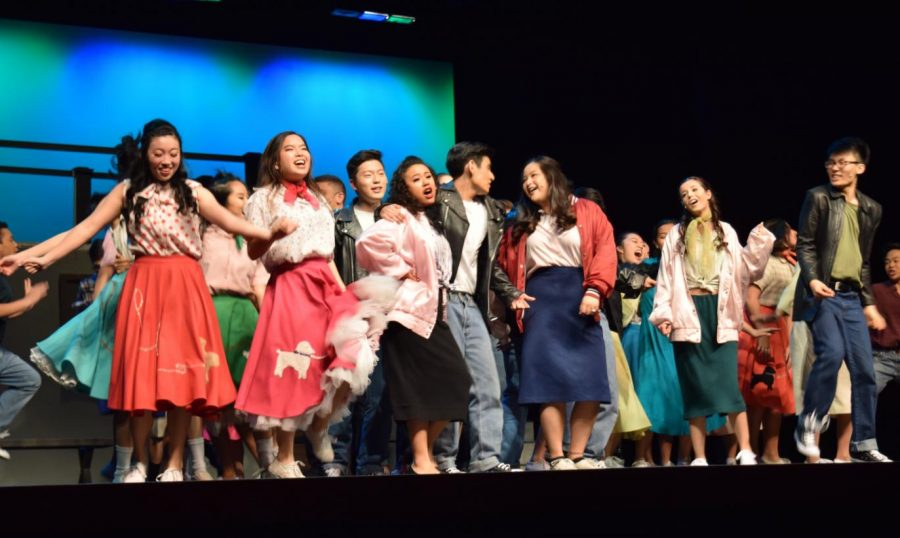 The+cast+of+%E2%80%9CGrease%E2%80%9D+channels+the+spirit+of+the+50%E2%80%99s+in+this+school+dance+scene.