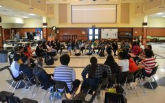 Nearly 40 of the over 300 Day of Silence participants attend an after-school debrief session held by GSA.