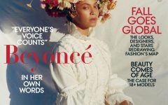Beyoncé sits on the cover of Vogue September 2018 in a Mona Lisa-esque pose.