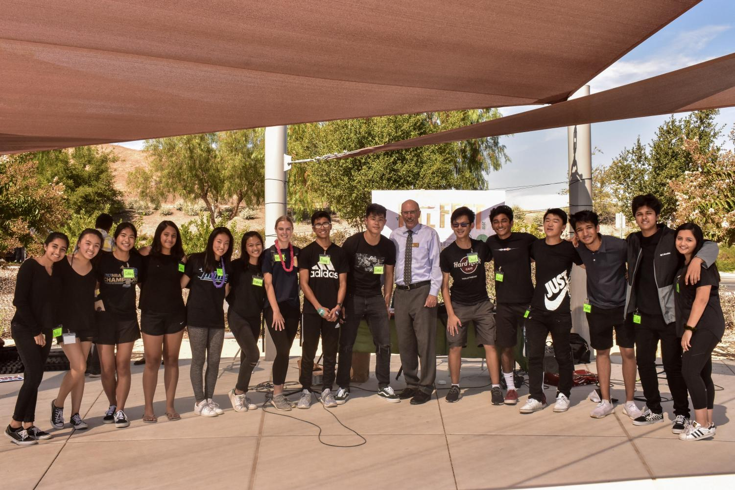 Dougherty Valley Kiva officers were visited on Sept. 22 at their Fall Festival by Mayor of San Ramon Bill Clarkson.
