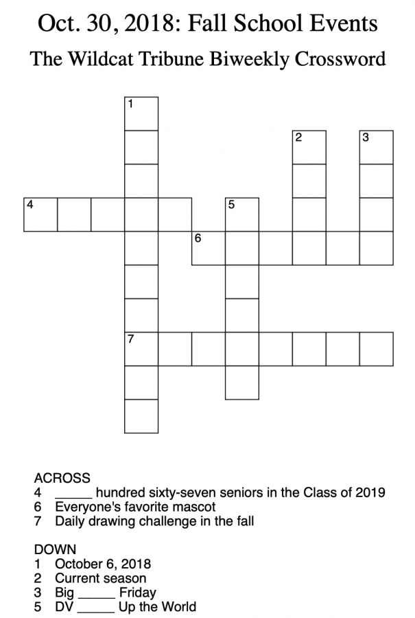 Crosswords: Week 1