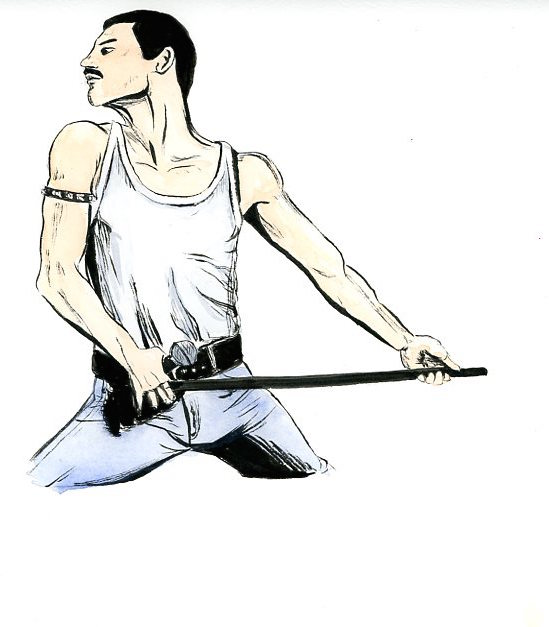 Freddie Mercury performs a record-breaking hit. // ILLUSTRATION BY SARAH KIM