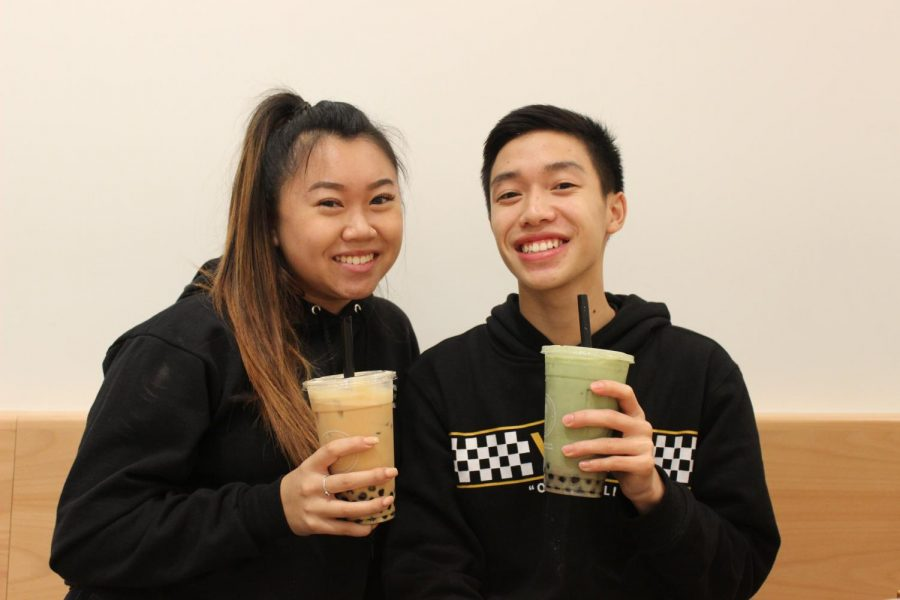 DVHS+seniors+Brandom+Pham+and+Amy+Yao+are+Boba+Guys+%22bobaristas.%22