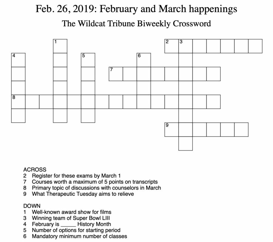 Crosswords%3A+Week+6