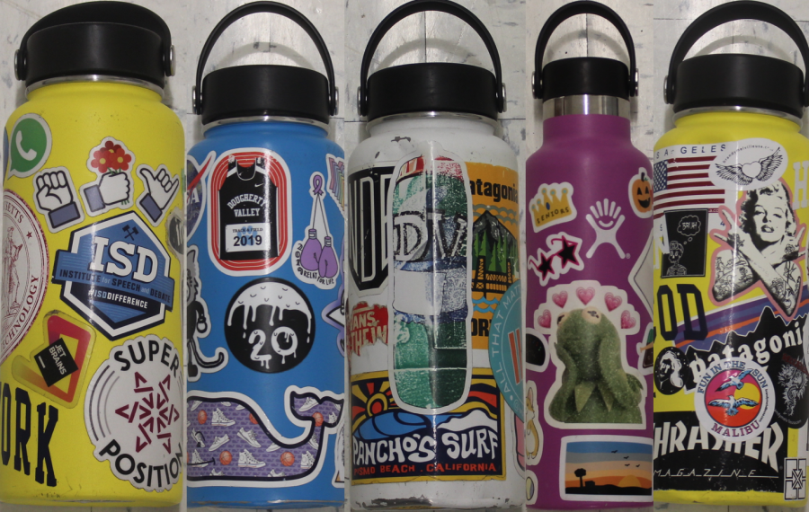 Beyond the surface: students tell the stories behind their water bottle stickers