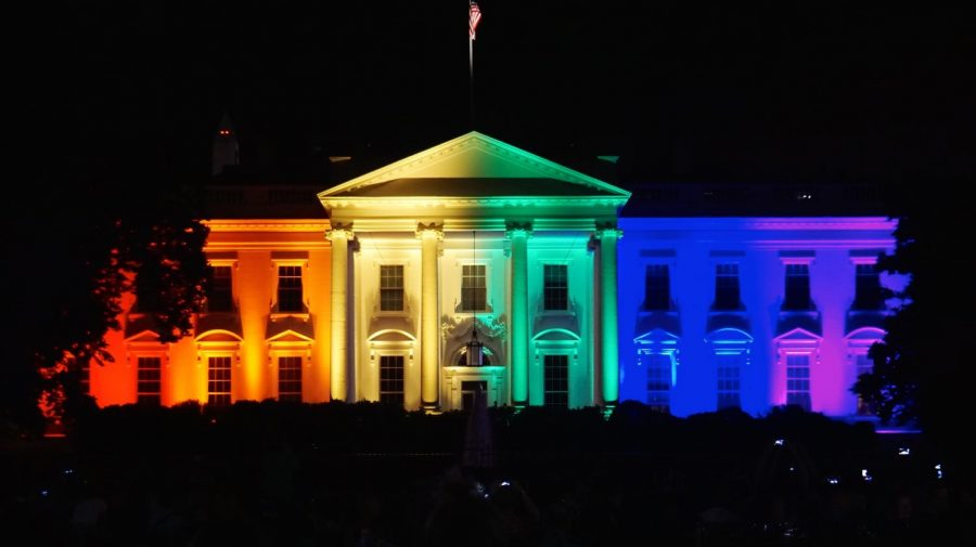 After+the+Supreme+Court+legalized+same+sex+marriage%2C+the+White+House+was+illuminated+with+a+rainbow+on+June+26.