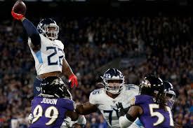 Titans running back Derrick Henry throws stunning touchdown pass to receiver Corey Davis.