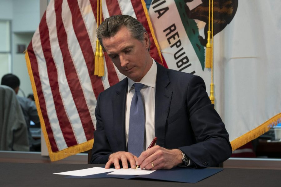 Governor of California Gavin Newsom signs emergency legislation providing up to $1.1 billion
