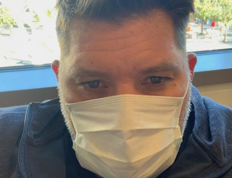 DV Men's Lacrosse Head Coach Mike Keyser wears a mask during spring sports recruitment. Due to COVID-19, Keyser has been virtually staying in contact with coaches offering recruitment for his players.
