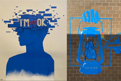 Dougherty tape art projects spark conversations on campus