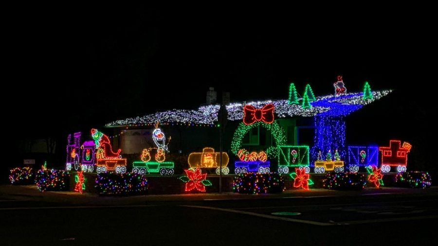 Cabrillo Ave: There are plenty of houses decorated throughout this neighborhood located next to Pine Valley Middle School. The house pictured is located on the corner of Cabrillo Ave.