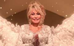 Dolly Parton starring as the angel in the 2020 Netflix film 'Dolly Parton's Christmas on the Square'