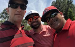 Johann Somerville (left) is pictured with his two close friends and colleagues, Brandon Croker (middle) and Jeff Vangene (right).