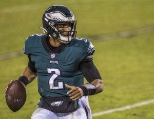 Jalen Hurts (2) is expected to take a bigger role in the eagles offense,  and is ready to shock the league to exceed many peoples expectations